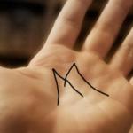 """Pessoas que têm a letra """"M"""" na palma da mão são pessoas especiais"""